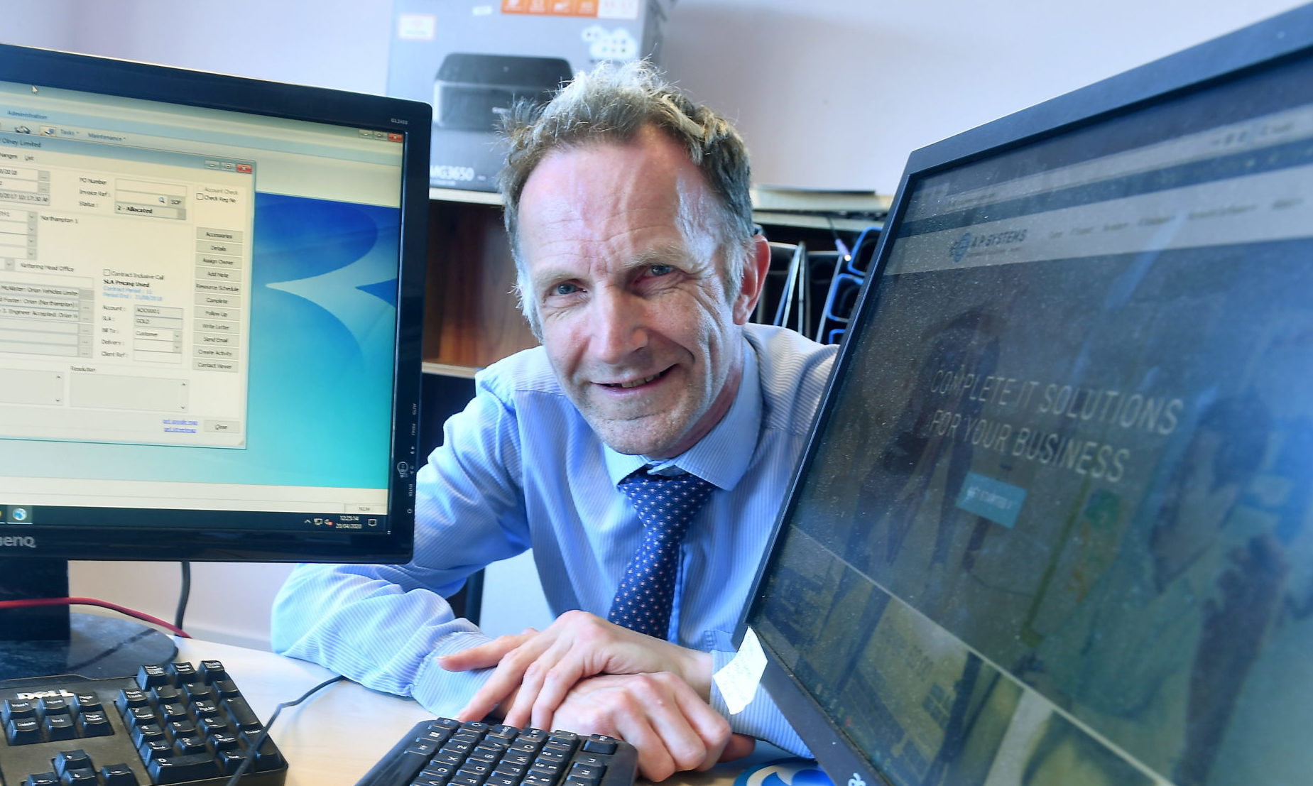 David Anderson established his computing company AP Systems in 1985. Picture by Chris Sumner