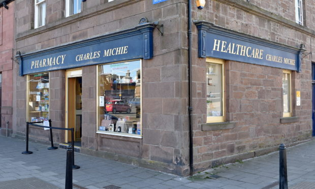 Charles Michie Pharmacy, Market Square, Stonehaven. Picture by DARRELL BENNS