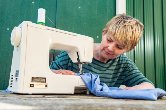 Sylvia Jamieson, from Lossiemouth, has helped make scrub uniforms for the NHS.