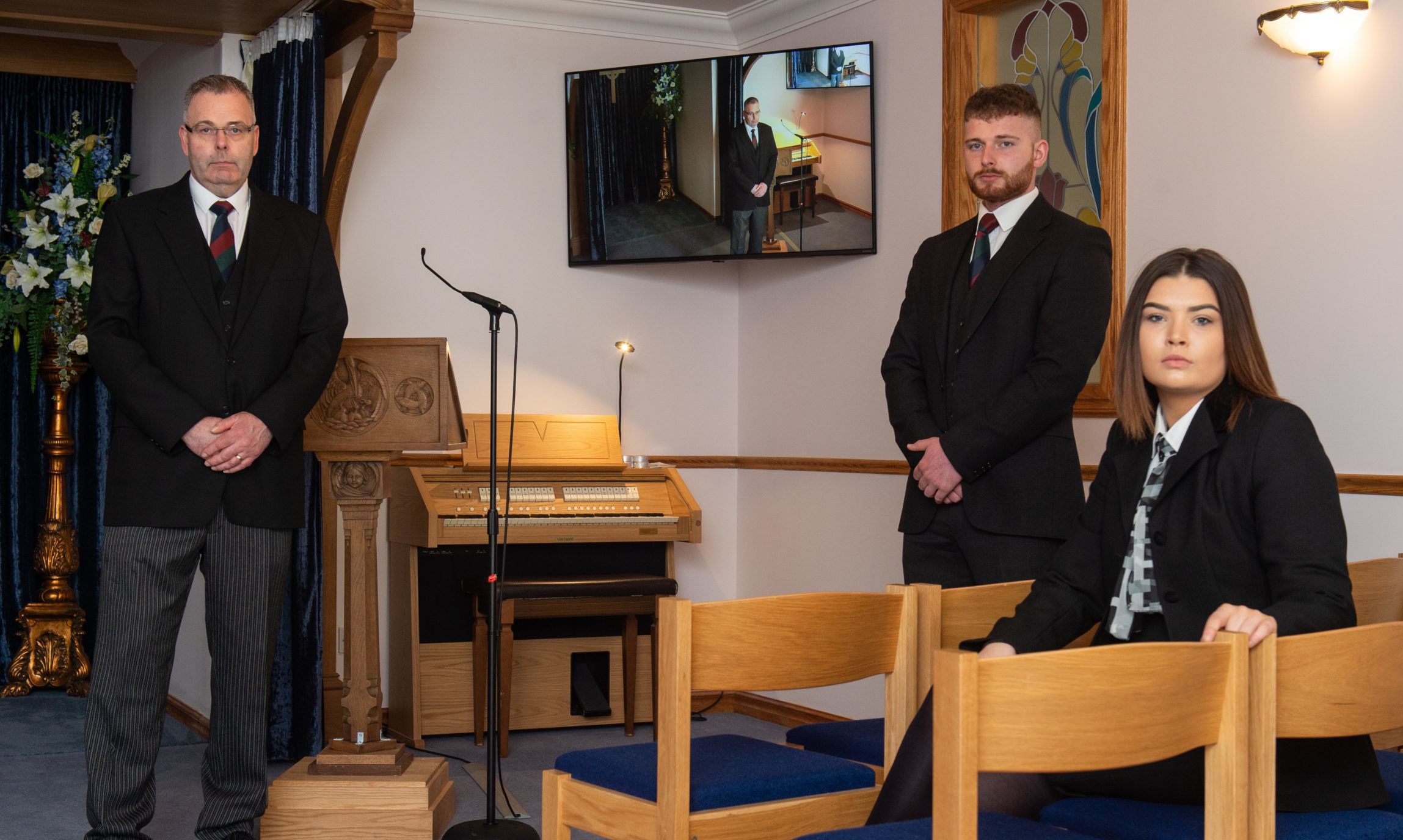 Funeral directors Frank S McLean and Sons in Aberlour have been running webcast funerals for several years. Picture by Jason Hedges.