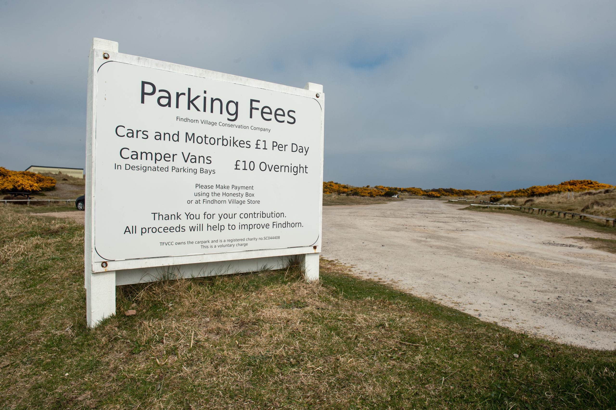 Findhorn Village Conservation Company has been running voluntary parking charges at the beach since 2018.