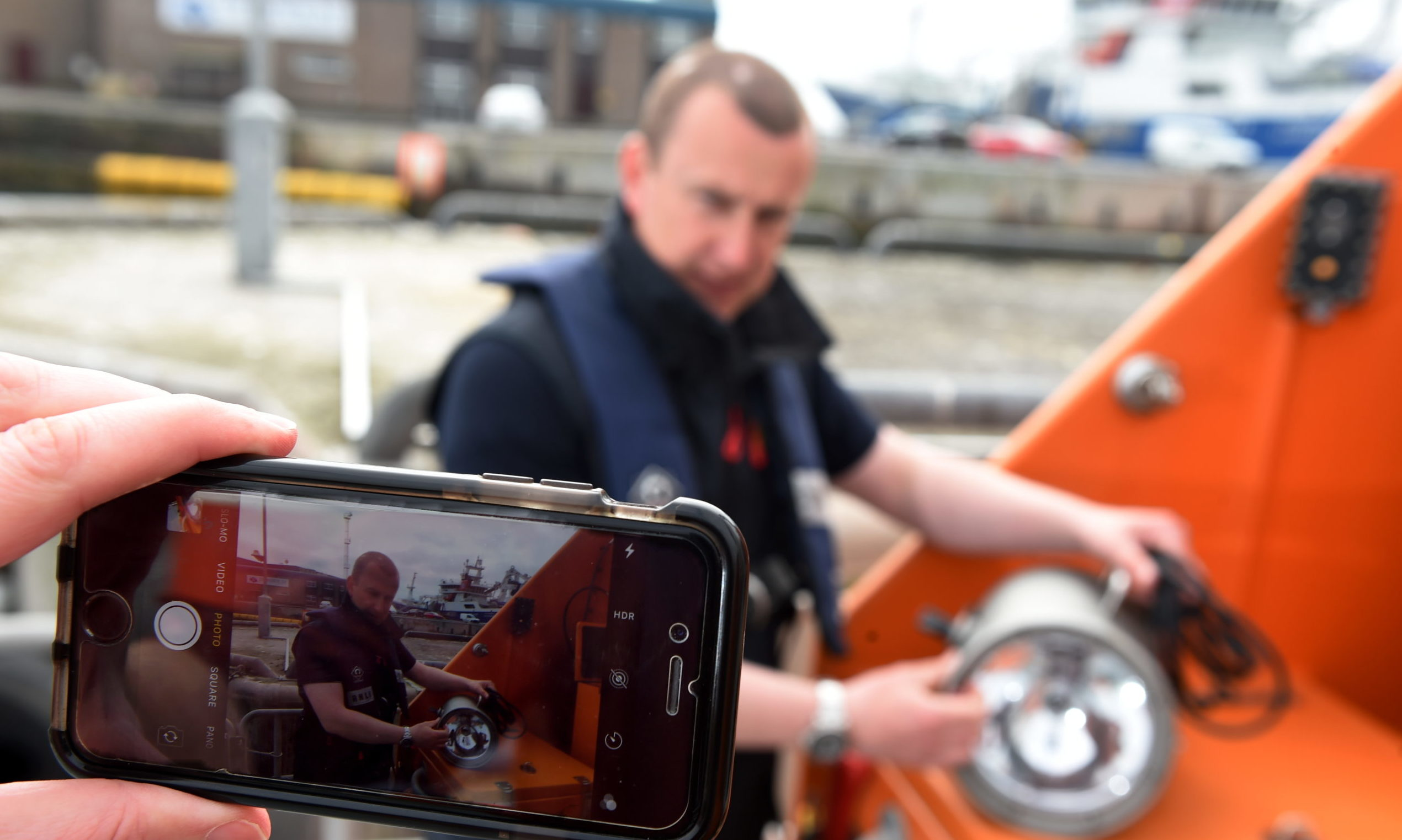 Martyn Simpson, coxswain mechanic at Peterhead lifeboat station. Picture by Kenny Elrick