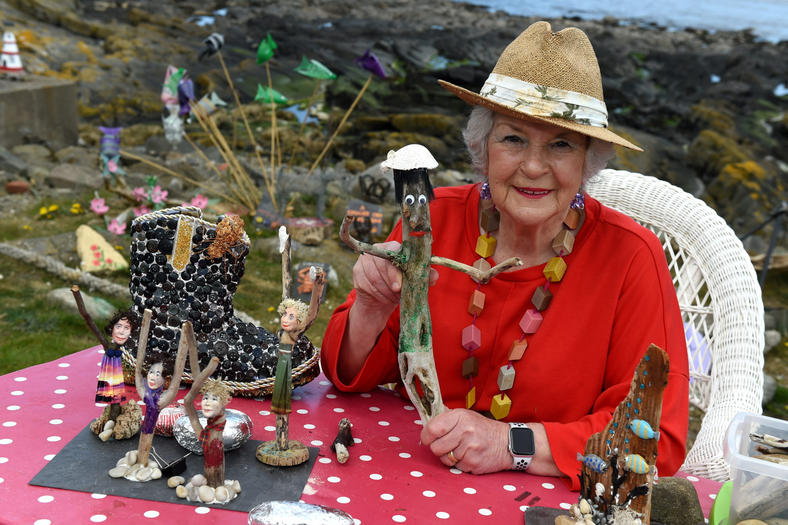 Isobel Gregory (known on her YouTube channel as Granny Griggly) from Sandhaven, Fraserburgh. Picture by Kenny Elrick.