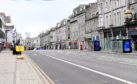 Union Street, Aberdeen, looking deserted.