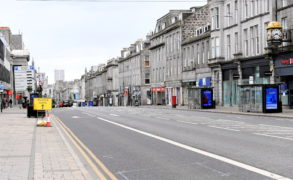 A deserted Union Street in Aberdeen. It has been claimed allowing a certain section of the population out of lockdown would benefit the economy.