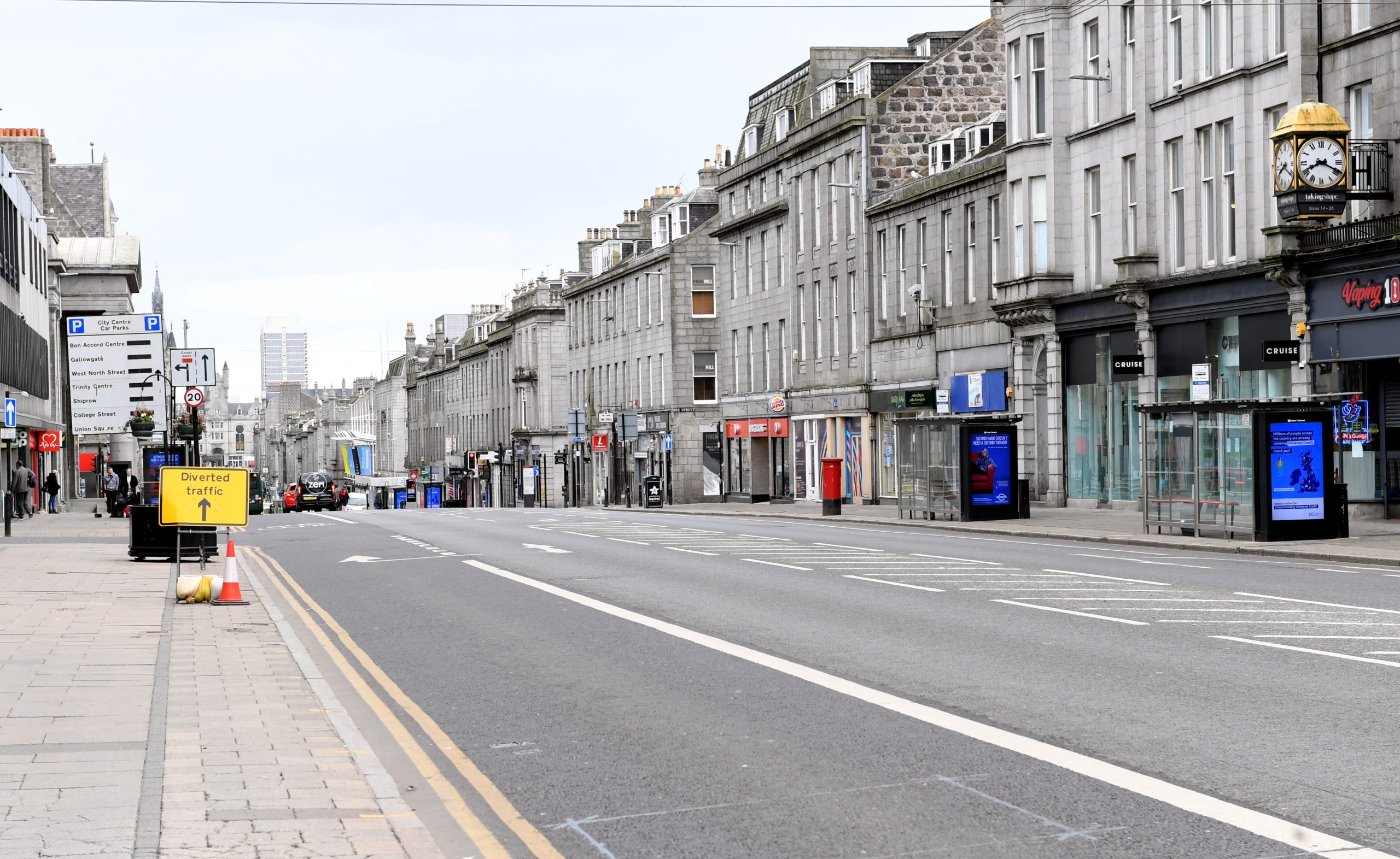 The local lockdown in Aberdeen is expected to have a devastating blow on the local economy.