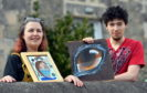 Stephanie Walby and her son Luke Allsop show off some of their artwork.     Picture by Kami Thomson.
