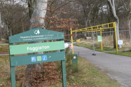Foggieton Forestry Commission Scotland Baillieswells car park  fenced off due to Covid-19 outbreak.    Picture by Paul Glendell