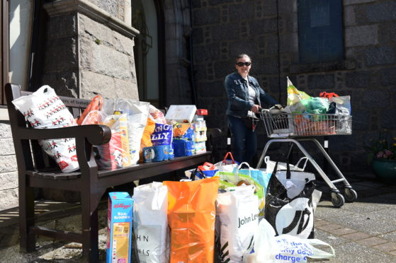 Donations of non-perishable food being handed in at the weekly collection point for Instant Neighbour charity at Peterculter Parish church have hugely increased since the coronavirus outbreak.