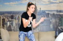 Kat Officer has been running online dance classes from her own home and posting them online. Picture by Paul Glendell.