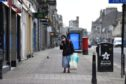 Union street Aberdeen  Picture by Paul Glendell  24/03/2020
