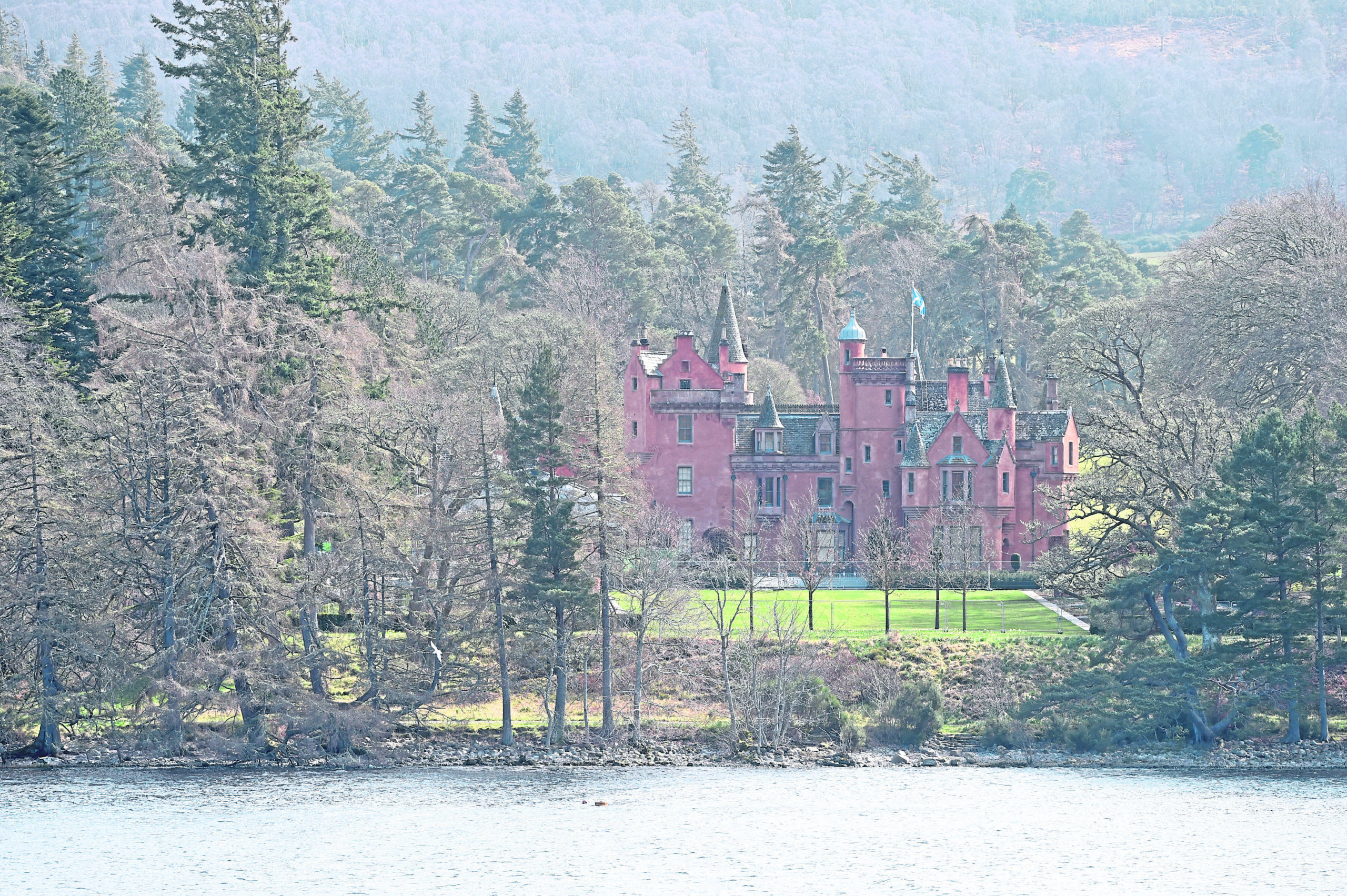 Aldourie Castle on the shores of Loch Ness near Dores where the owners are hoping to build a boathouse. Picture by Sandy McCook