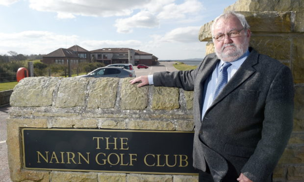 Highland councillor Tom Heggie at the Nairn Golf Club. Picture by Sandy McCook