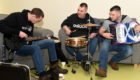 Peat and Diesel playing in the Highland Hospice in Inverness. Picture by Sandy McCook.