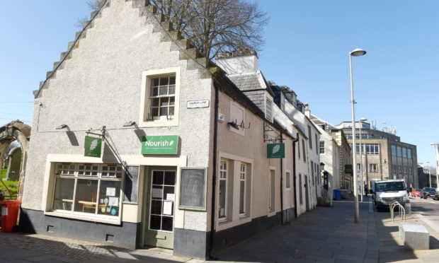 The Nourish cafe in Church Street, Inverness.  Picture by Sandy McCook.