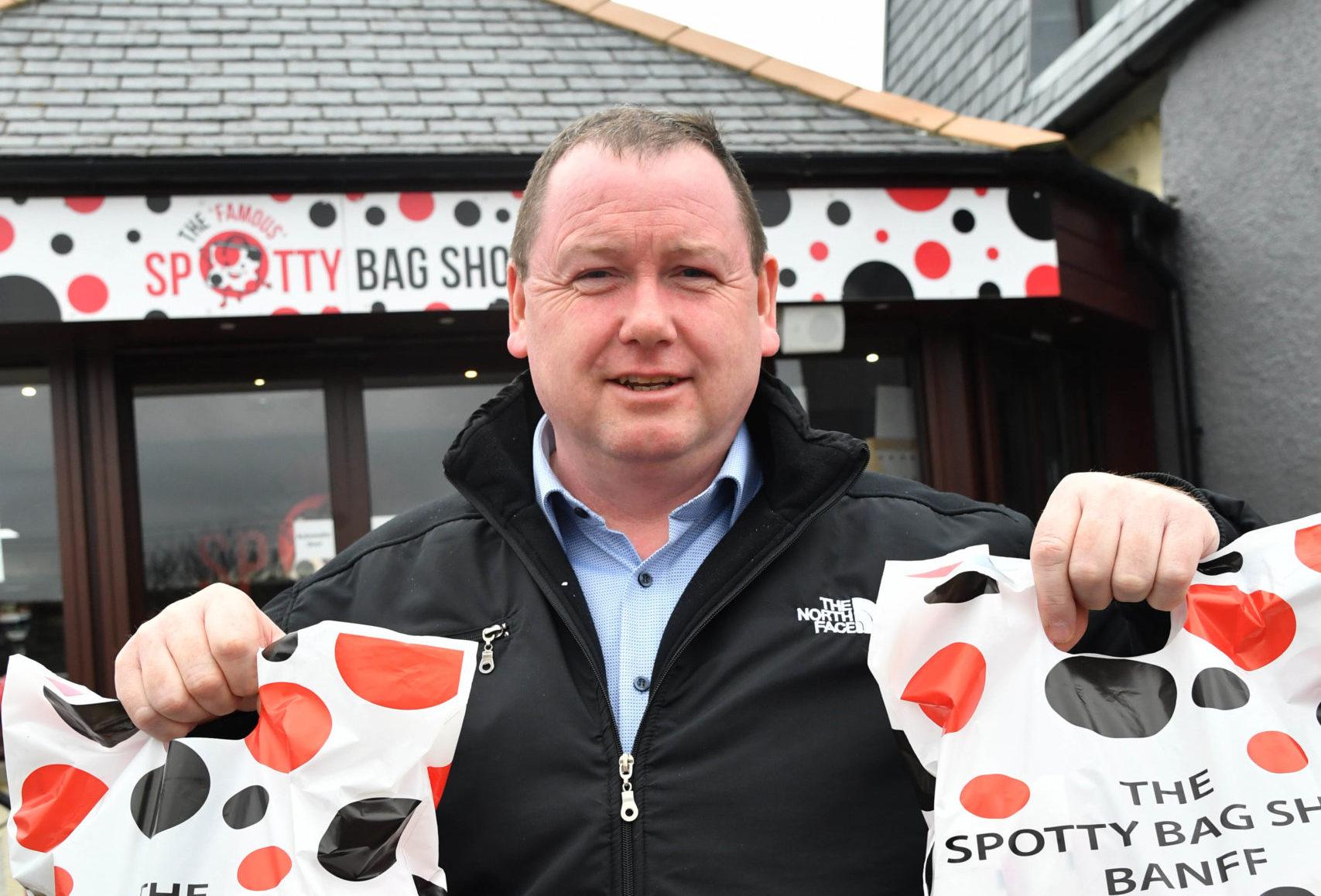 Spotty Bag Shop owner Des Cheyne