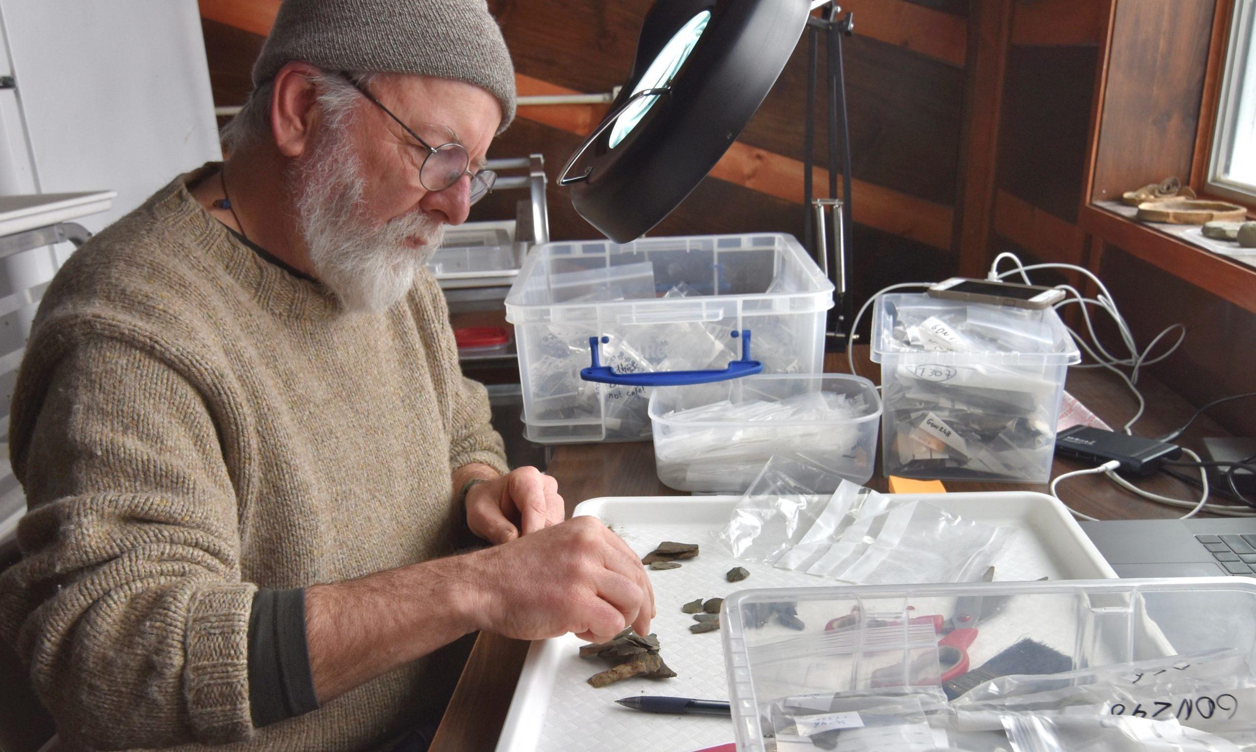 Aberdeen University archaeologist Rich Knecht is working in Quinhagak, Alaska.