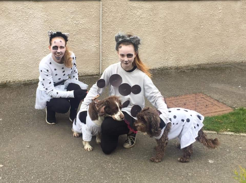 Ruth Miller and daughter Tiegan's dressing up theme that day was  101 dalmatians.