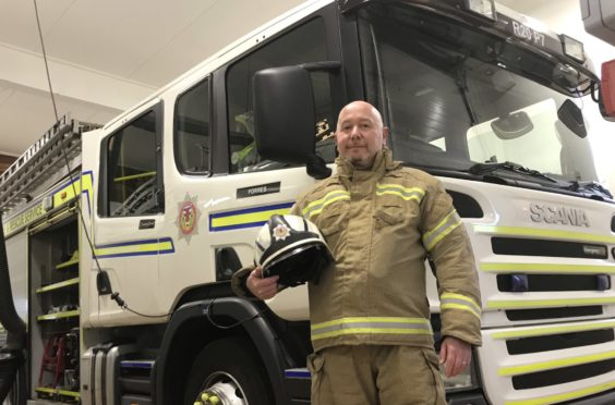 Commander with the Scottish Fire and Rescue Service Paul Taylor.
