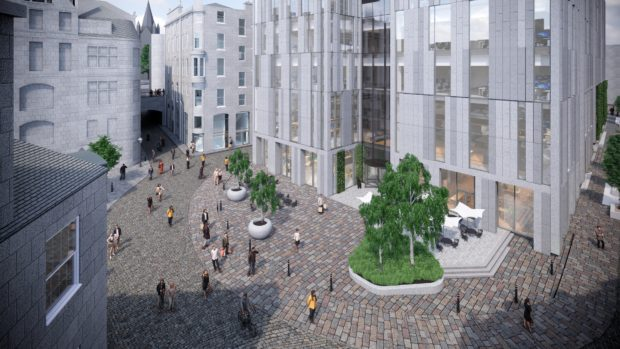 An artistic's impression of the proposed building on the site of Aberdeen Market.