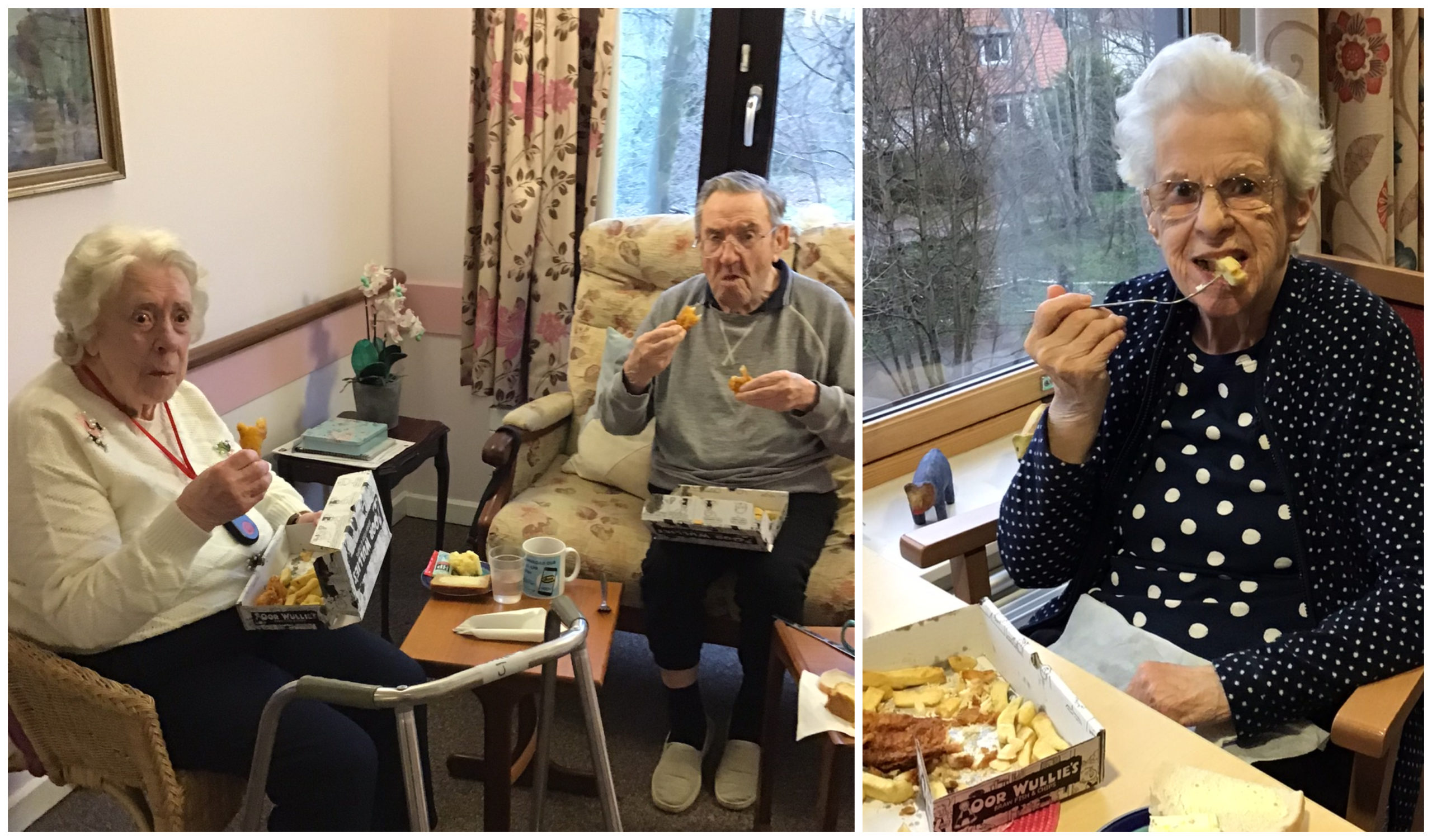 Residents and staff at VSA Ruthrieston House were treated to fish suppers.