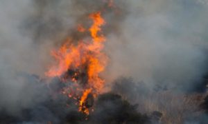 March wild fire on the hillside by the A97, between  Lumsden and  Rhynie Aberdeenshire last week.