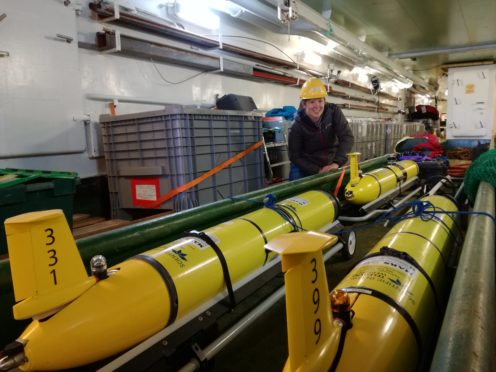 Marine robots being used in Oban.