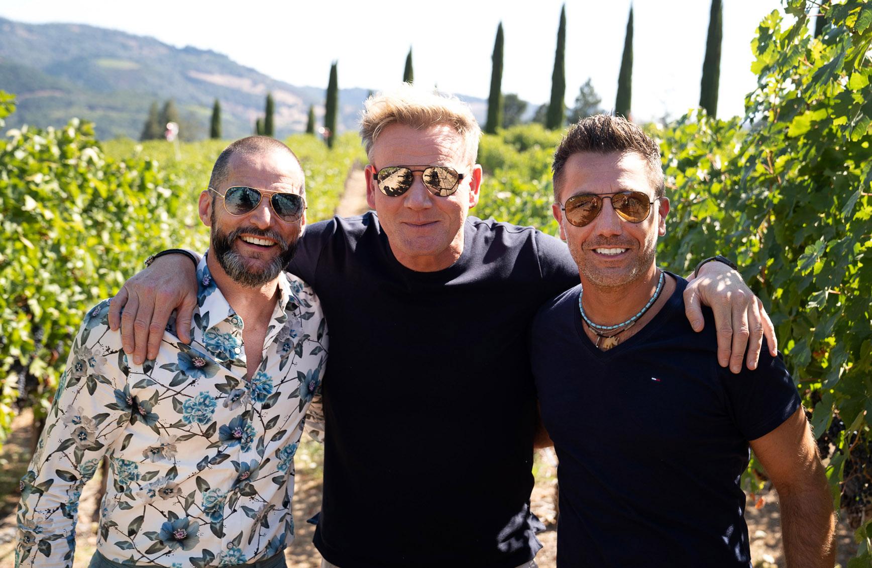 Fred Sirieix, Gordon Ramsay and Gino D'Acampo.