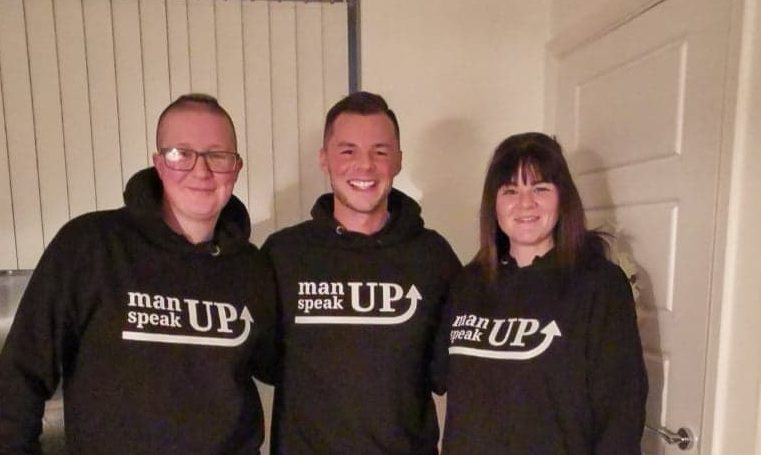 Left to right manUP speakUP team: Claire Eckert-Turnbull, Mike Scotland, Kirsty Smith