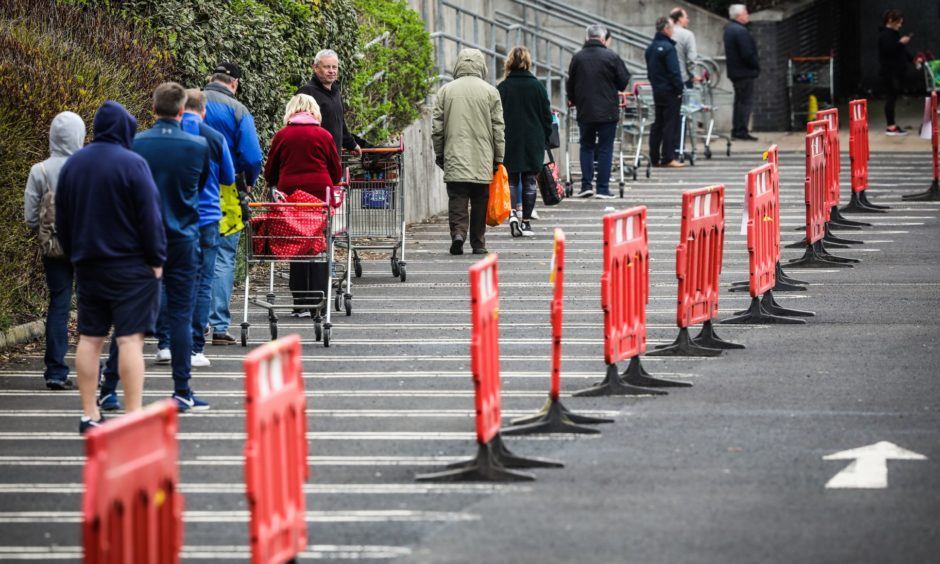 Efforts are under way to ensure the most vulnerable do not need to risk their health by venturing out to join queues for supermarkets.
