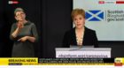 Screengrabs of the daily Coronavirus Covid-19 briefing with Nicola Sturgeon and Catherine Calderwood 5/4/2020