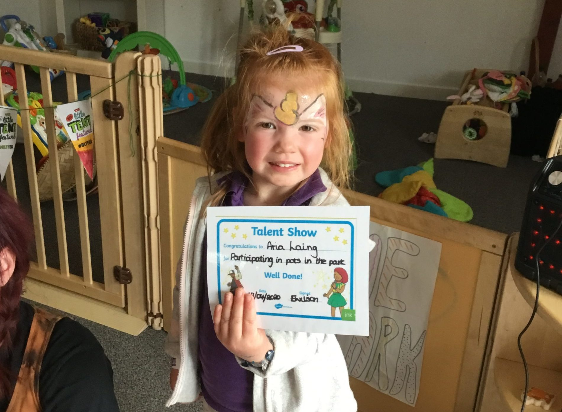 Youngsters, including Ana Laing, have been enjoying the activities at Flowerpots Nursery.