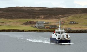 Leirna ferry, Lerwick.   Picture by Jim Irvine