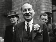 Labour Party leader Clement Attlee