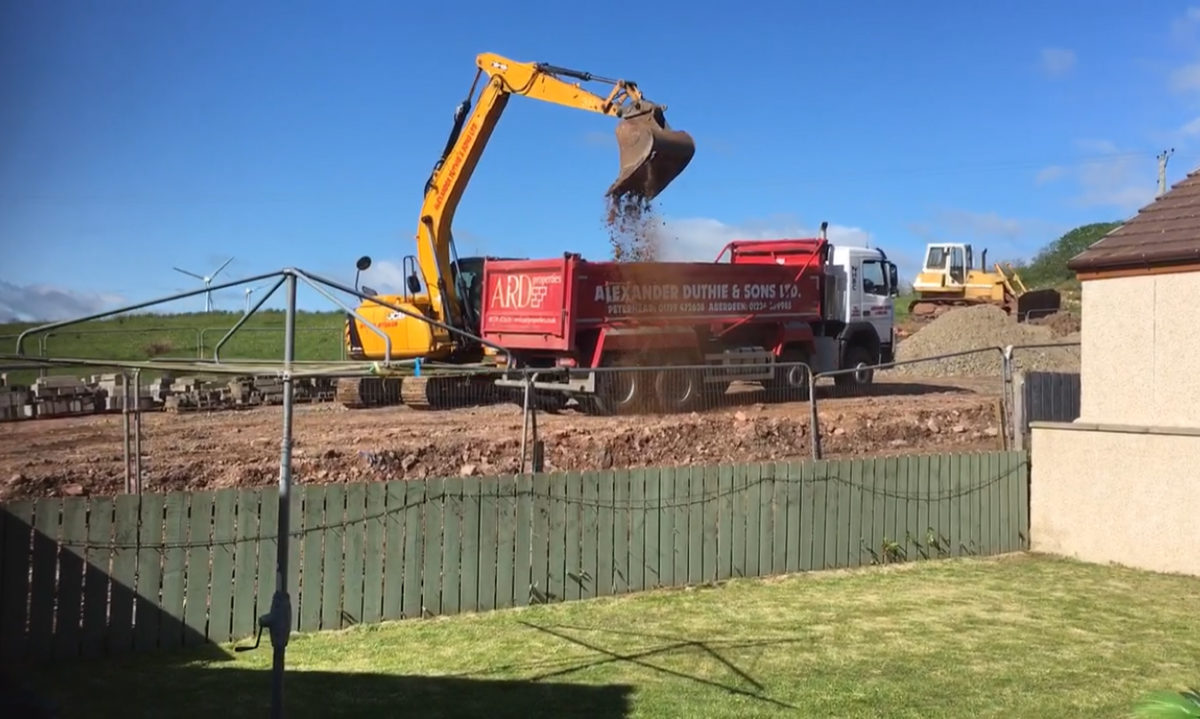 Work at the St Fergus site