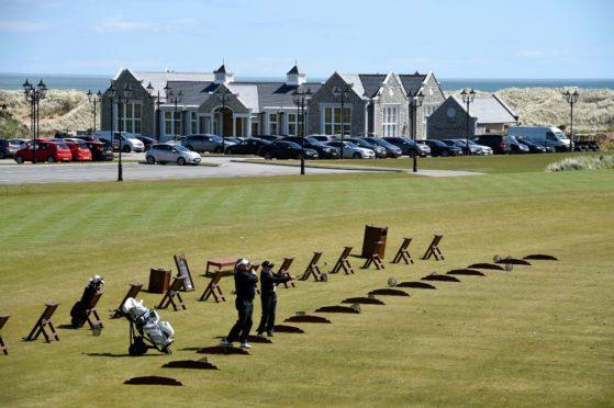 Locator of Trump International Golf Links, Aberdeenshire,