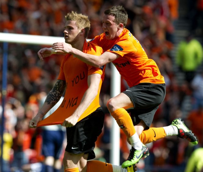 Goodwillie (left) is hailed by team-mate Danny Swanson.