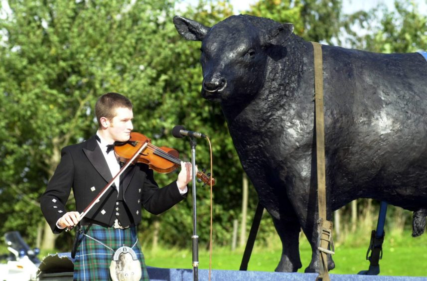 Tarland fiddler Paul Anderson played at the ceremony