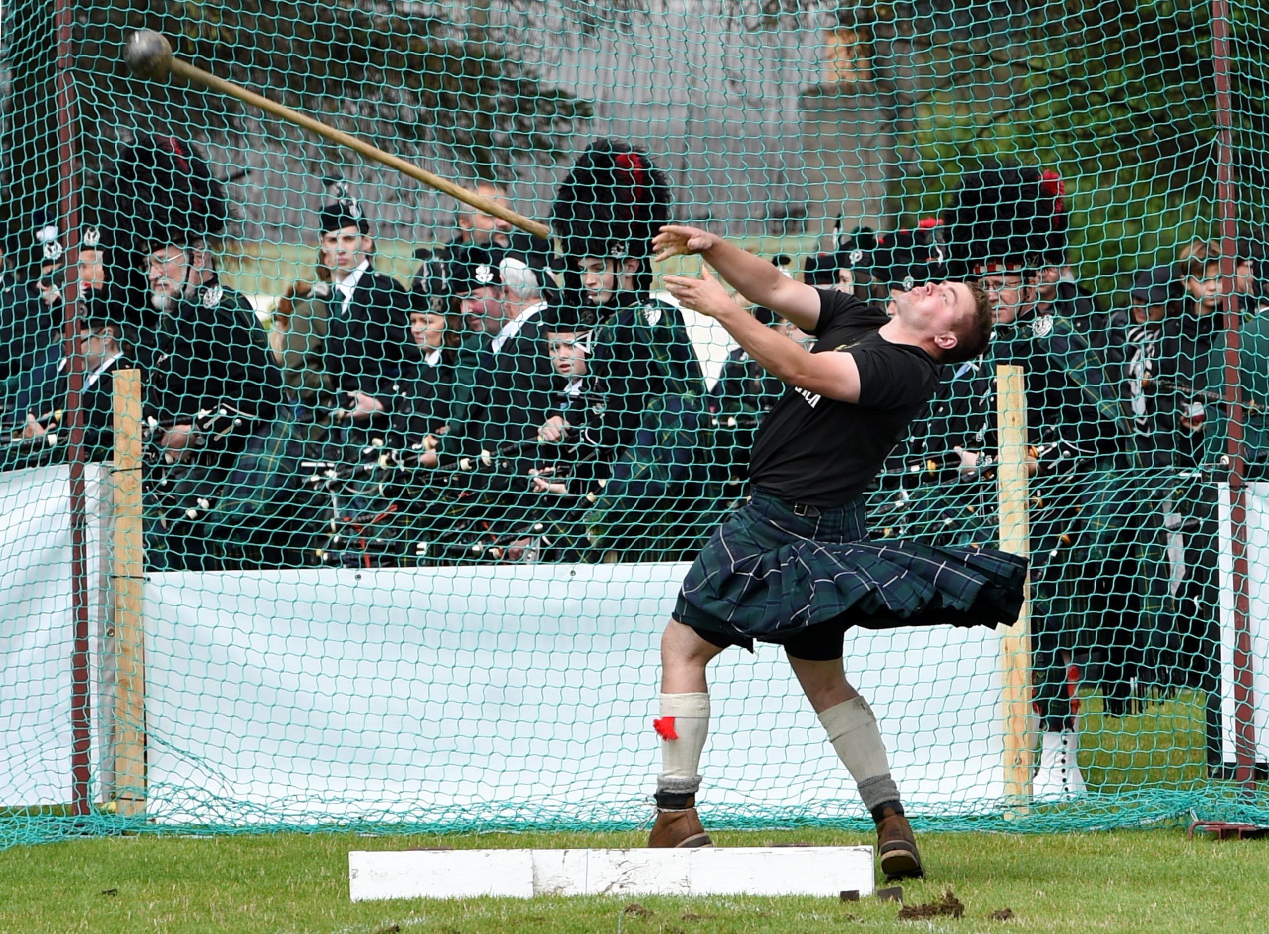 James Dawkins at the Dufftown Highland Games in 2017, picture by Kenny Elrick