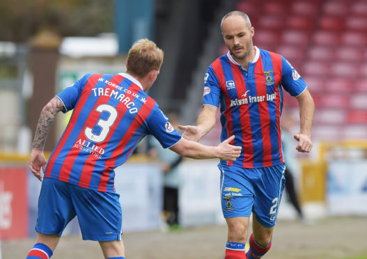 Carl Tremarco and David Raven during their time together at Inverness.