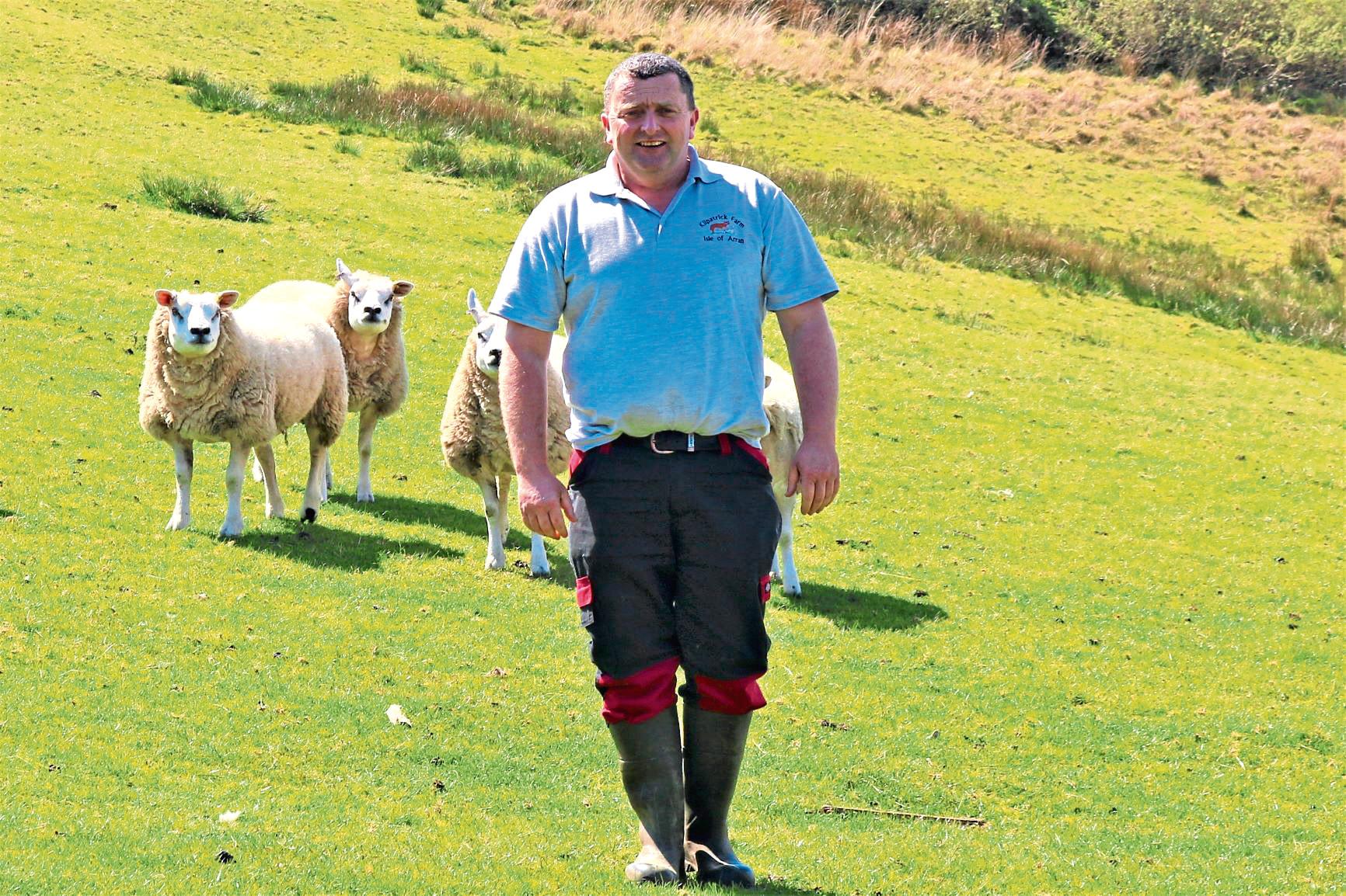 Arran farmer David Henderson is involved in the Net Zero Arran project.
