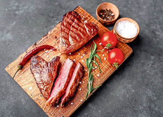 Red meat sales on items such as steaks were up for this year's Valentine's Day, the latest figures have shown.