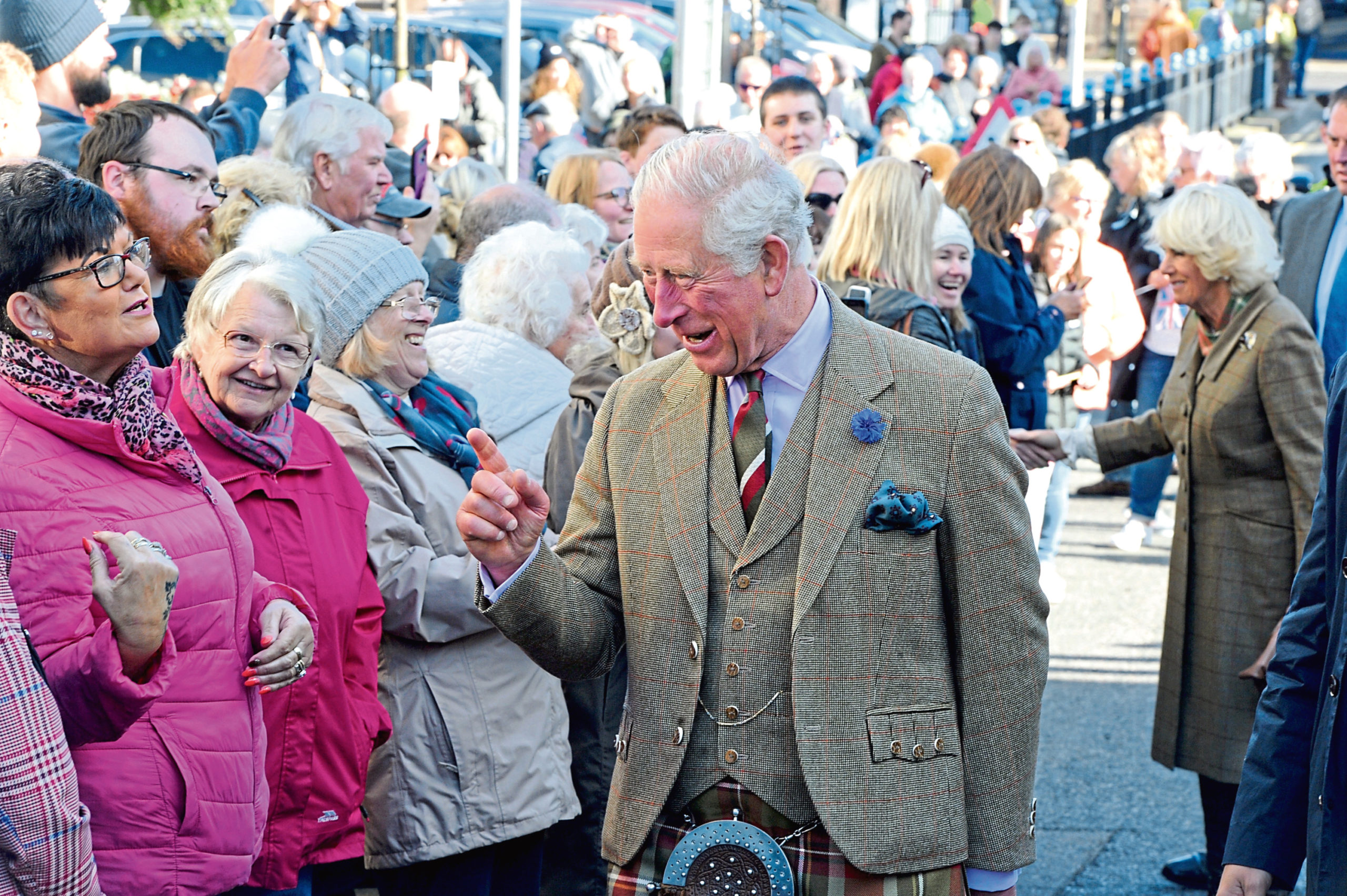 The Duke and Duchess of Rothesay, Prince Charles and Camilla visit to Dunnottar Castle.
