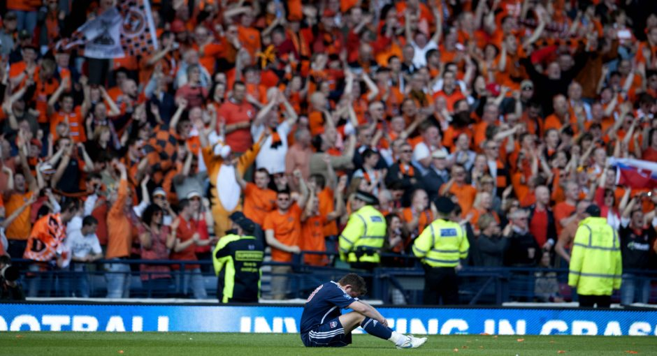 Ross County's Richard Brittain at full-time.