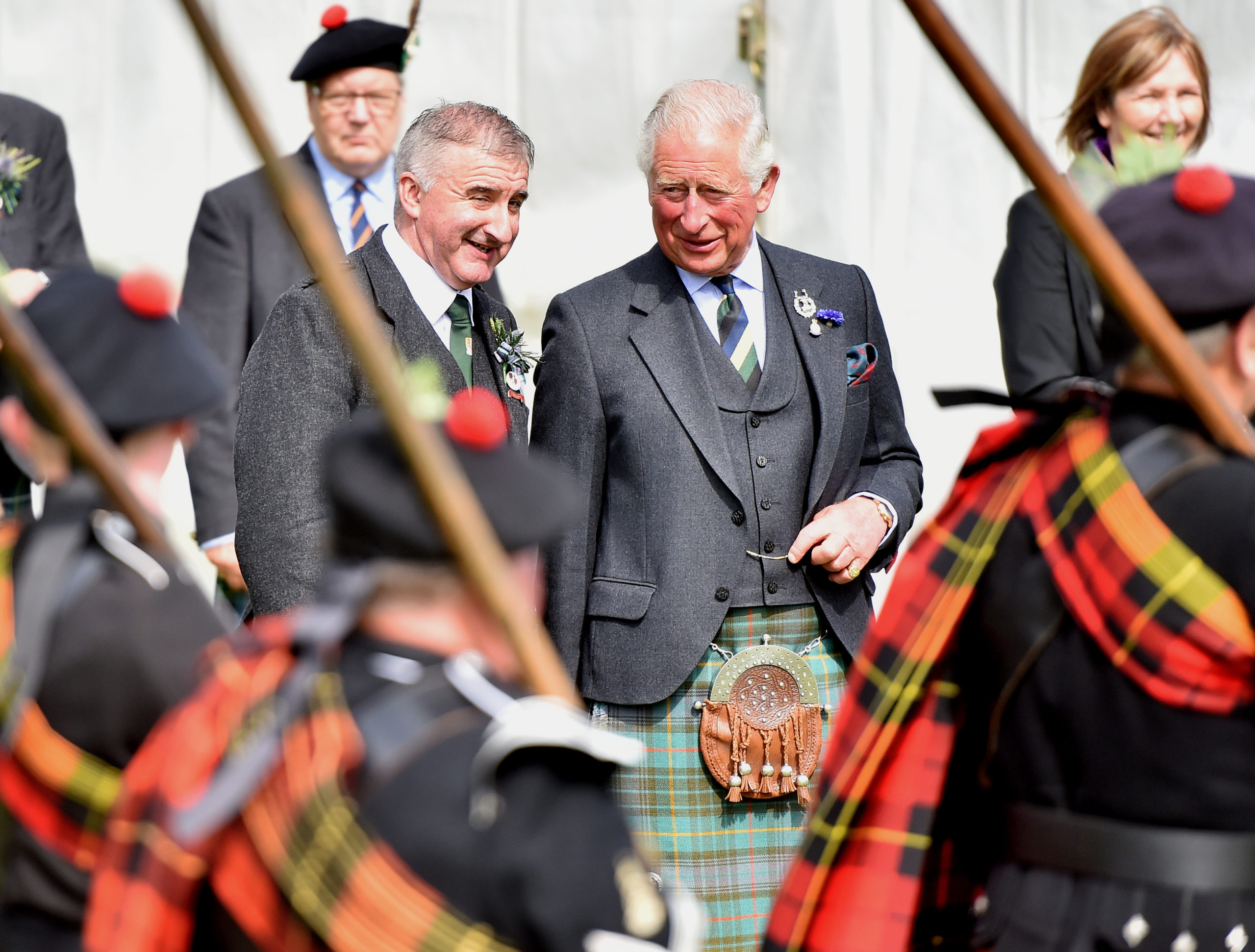 The Duke of Rothesay at Ballater Highland Games, Monaltrie Park. Picture by Scott Baxter 08/08/2019