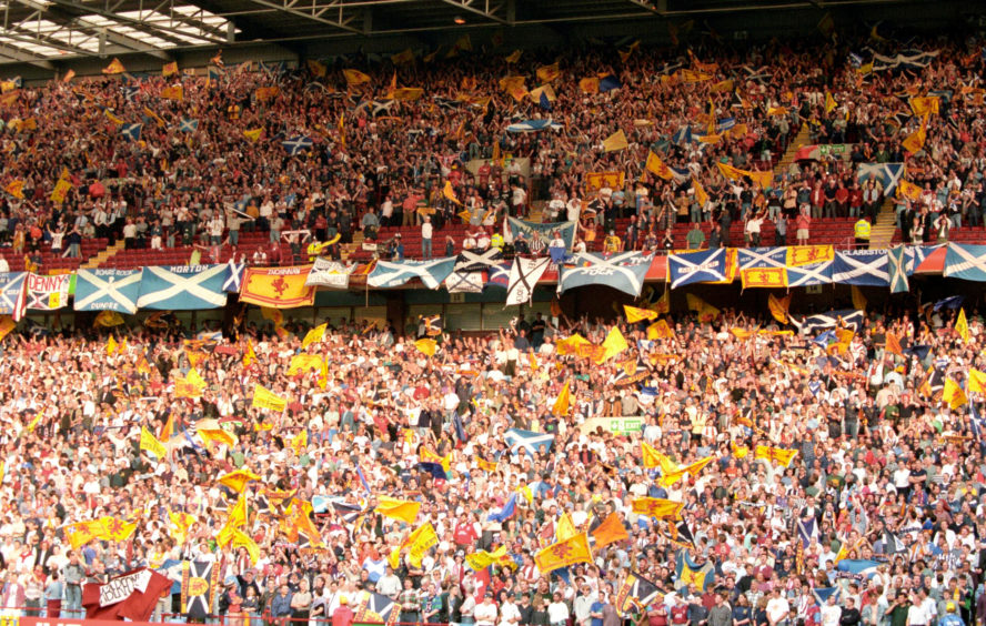 Scotland supporters at Villa Park against Switzerland.