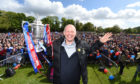 Caley Thistle manager John Hughes with the Scottish Cup
