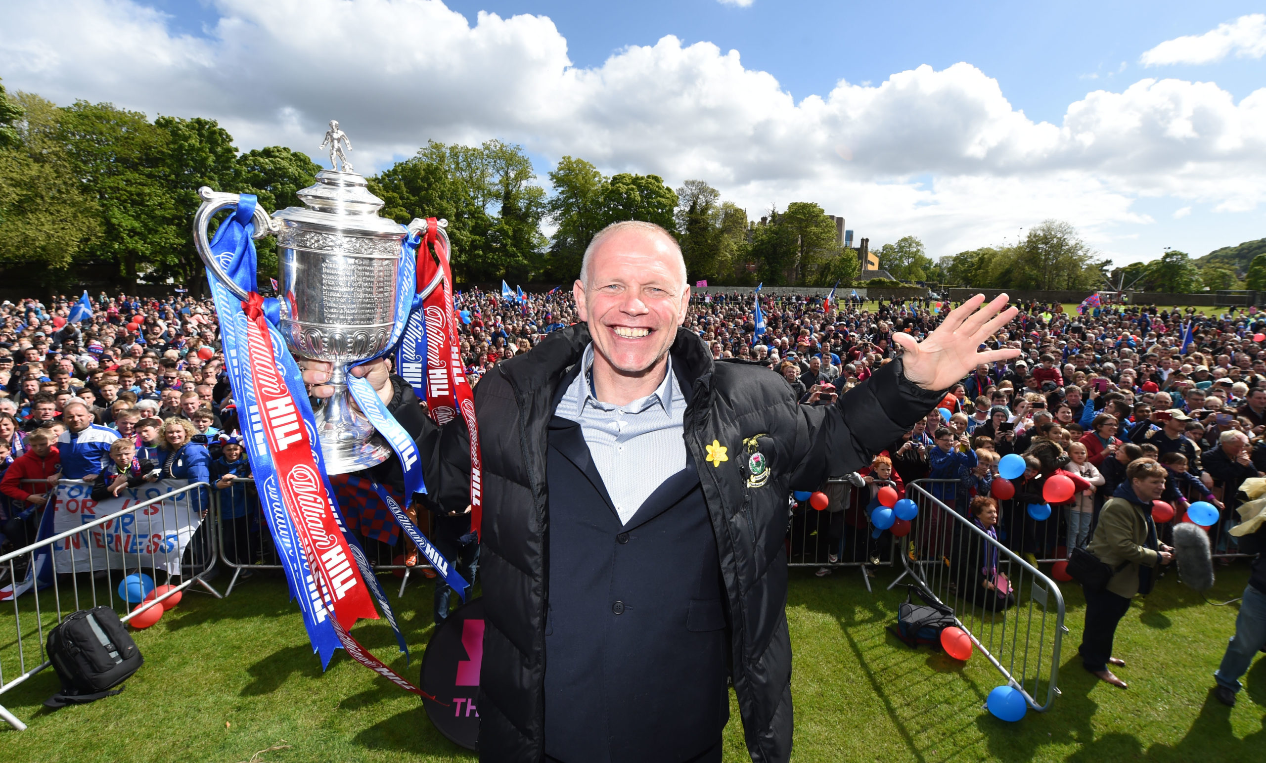 John Hughes led Caley Thistle to Scottish Cup glory in 2015.