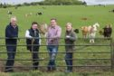 Rob, Tom, Rory and Alison Stodart at Mill of Inverarity Farm.