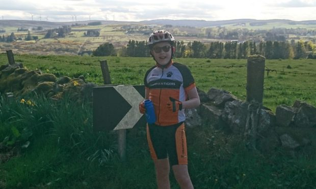 Arran Keenon cycled 26 miles for charity.